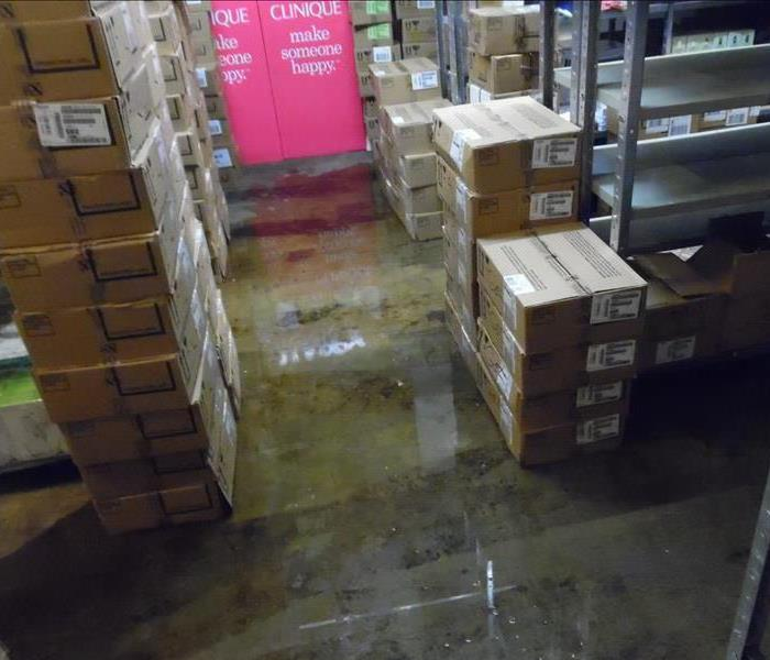 Water in your warehouse?   Call SERVPRO of Great Neck/Port Washington!