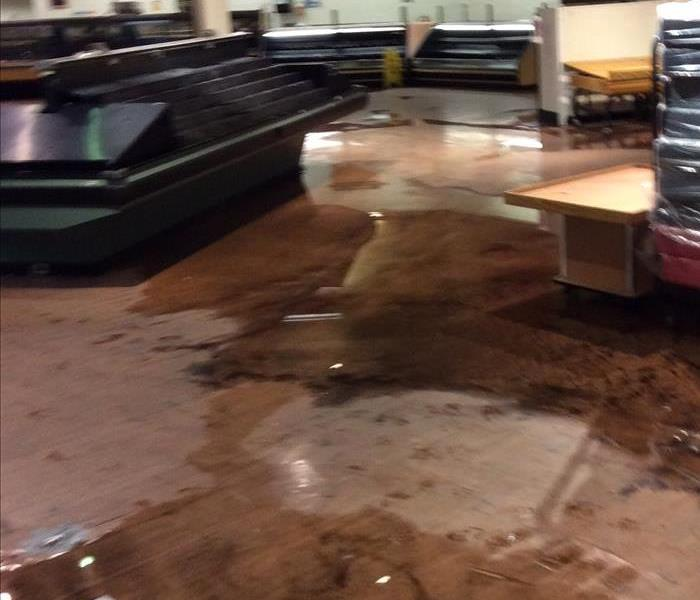 Commercial Water Damage to Former Supermarket
