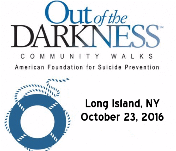 "Community Join TEAM SERVPRO of Great Neck/Port Washington for the ""Out of the Darkness"" Suicide Prevention Walk 10/23/16"