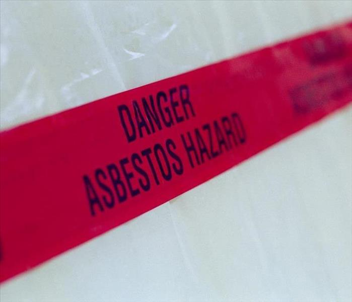 asbestos warning tape--red